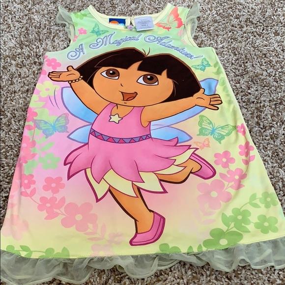Nickelodeon Other - NickJr. Dora & Disney Tinker-bell Nightgowns